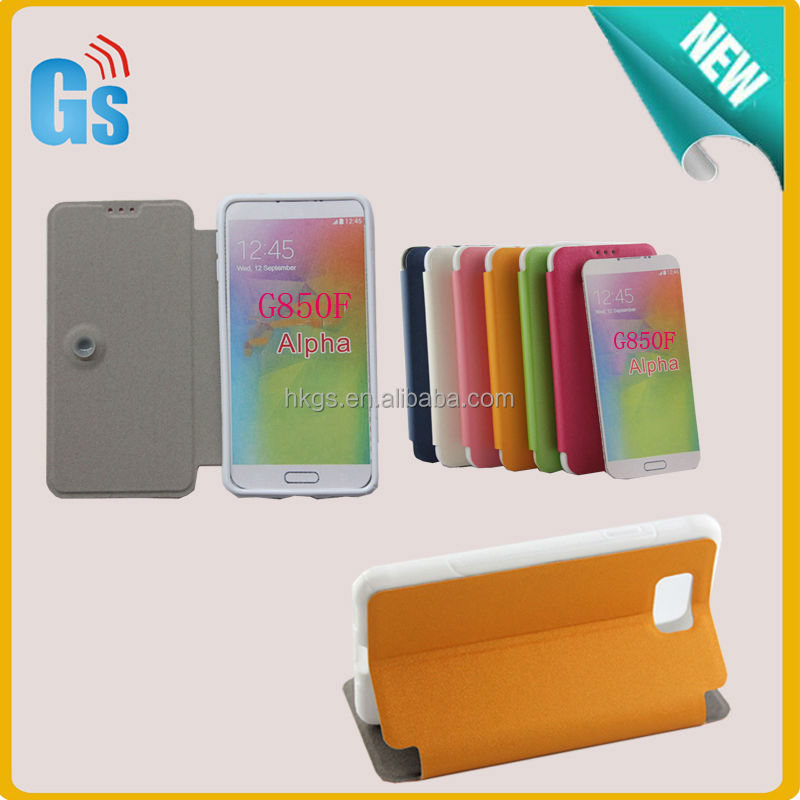 Alibaba In Russian Folio Stand PU Leather Case For Samsung Galaxy Alpha G850F