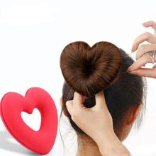 Love heart shaped donut hair tiara Princess head flower tassel ball head sponge hair