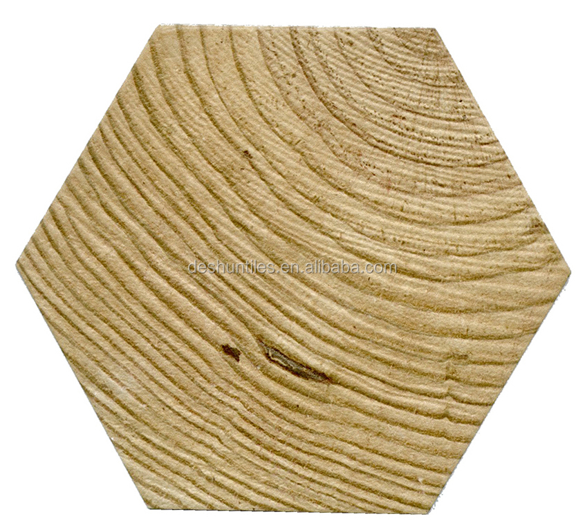 Decorative hexagonal wall Wood tile