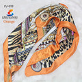 2015 New Multicolor Stewardess Scarf 90*90cm Elegant Ladies Career Spinning Silk Satin Printing large Square Scarves for Women