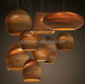 Nordic Hotel bar warehouse project living room dining bedroom corrugated naked pupa Art Foreign chandelier