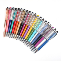 2 in 1 touch pen crystal new design your logo rhinestone colorful crystal ball pen