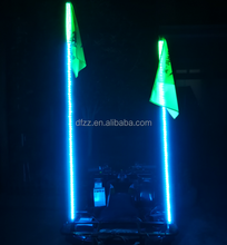 6ft Solid colored antenna flag LED light for ATV UTV Jeep Boat Motorcycle with wireless remote