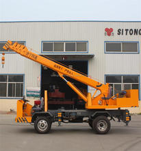 Luying brand Machine Mobile Winch 4 Ton Telescoping Boom Crane with CE/ISO