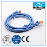 electric wires rohs conform Cat6 SFTP 26AWG network jumper cable