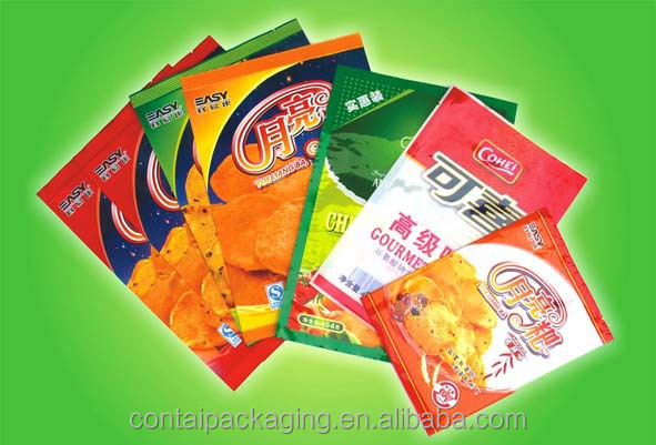 Hot Sale bags for food packaging, fired chicken,junk food/custom printed snack food bag