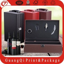 OEM delicate manufactuer quality assurance cardboard leather wine carrier box