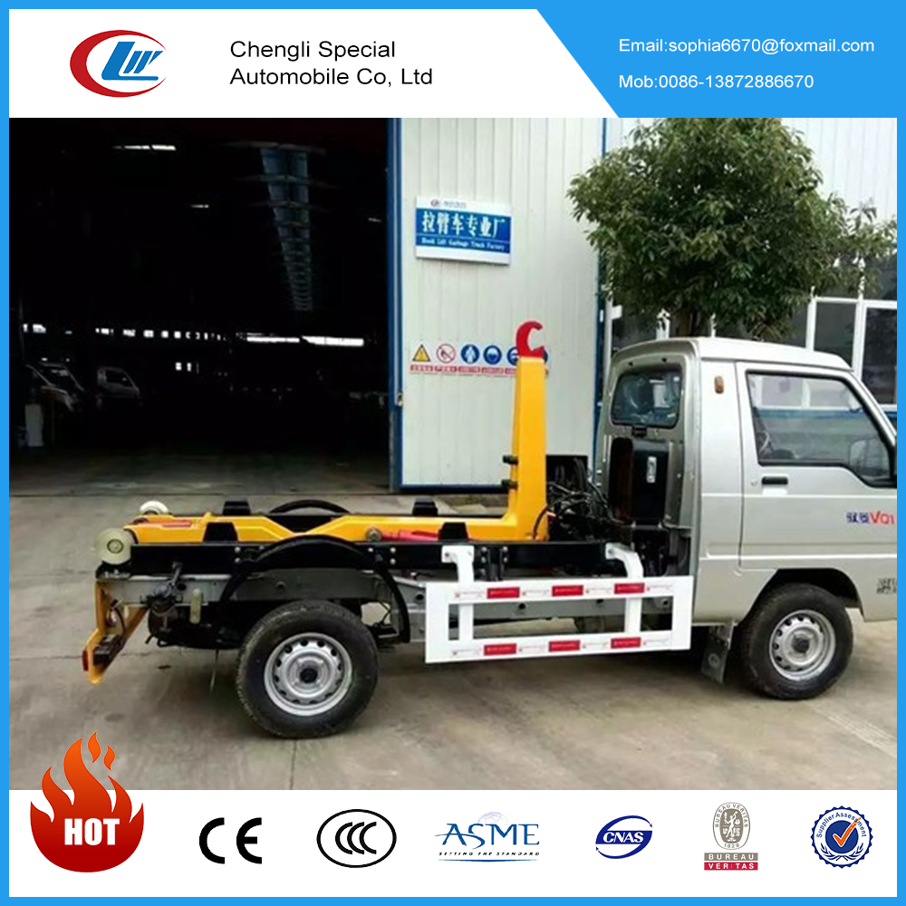 China manufacturer Hook lift container 2-3cbm capacity of garbage trucks for sale