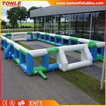 Bespoke inflatable soccer field/ inflatable soap football area/ inflatable football game for sale