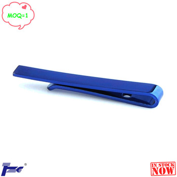 Fashion Men's Blue (Size 40*5 mm) Tie Clip Bar Pin