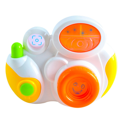 Plastic b/o promotional mini baby camera toy with music