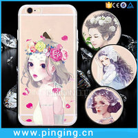 3D Goddess Painted Figure Diamond Cell Phone Covers For Girls iPhone 6 Case