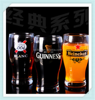 Decal logo guinness beer cup famous brand 1664 sublimation glass beer mug with high quality