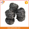 Kitchen Cleaning Sponge Scourer/0.13mm Stainless Steel Spiral Scourer Sponge With Factory Price