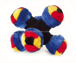 2016 hot style pet toys plush mix colorful ball dog toy