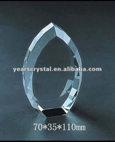 laser engraved crystal blockfor crystal trophy and award (R-0277)