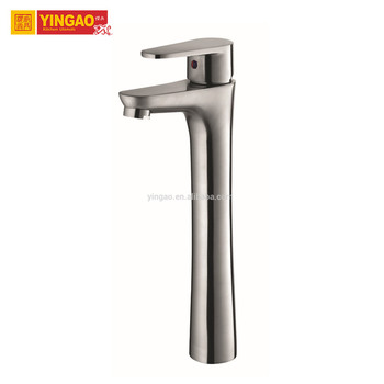 Stainless Steel single hole deck mounted bathroom basin faucet
