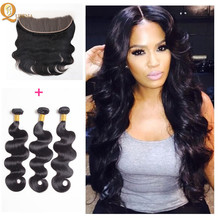 Alibaba <strong>Express</strong> China Brazilian Human Hair Piece Full Ear To Ear Lace Frontal Closure With Bundles