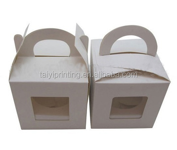 Wholesale single paper cupcake paper boxes