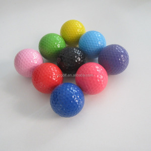 Bulk assorted colored indoor and outdoor putt mni golf balls