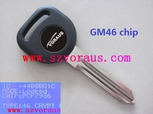 Replacement Transponder Chip Ignition Key Circle Plus Uncut Blade Fits GM