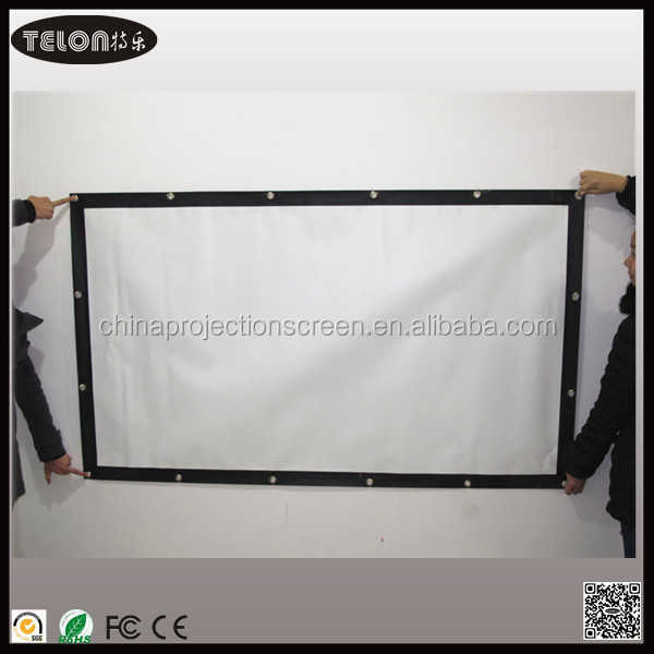 3d sliver or matte white material screen with black border and eyelet,inflatable projector screen