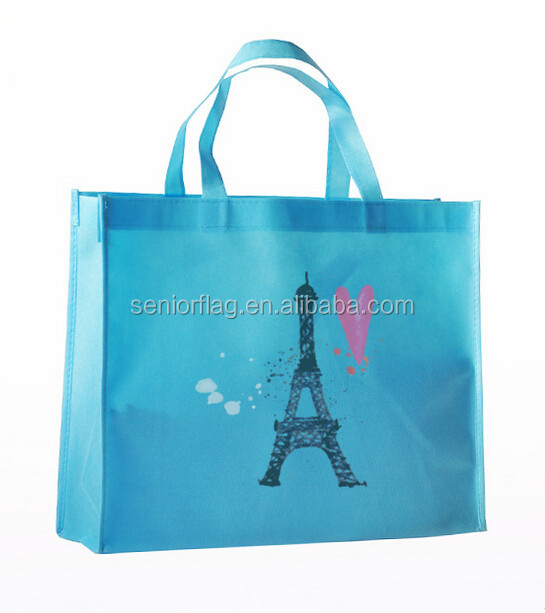 Promotional plastic non-woven polypropylene tote bag for gift packing