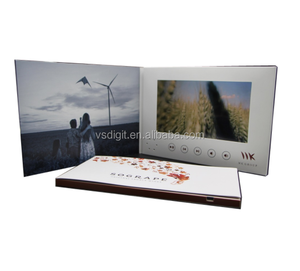 "Custom Business 2.4"" 4.3"" 5"" 7"" 10'' LCD Video Brochure card for company"