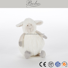 Custom Embroidery logo Plush Stuffed baby soft toy lamb