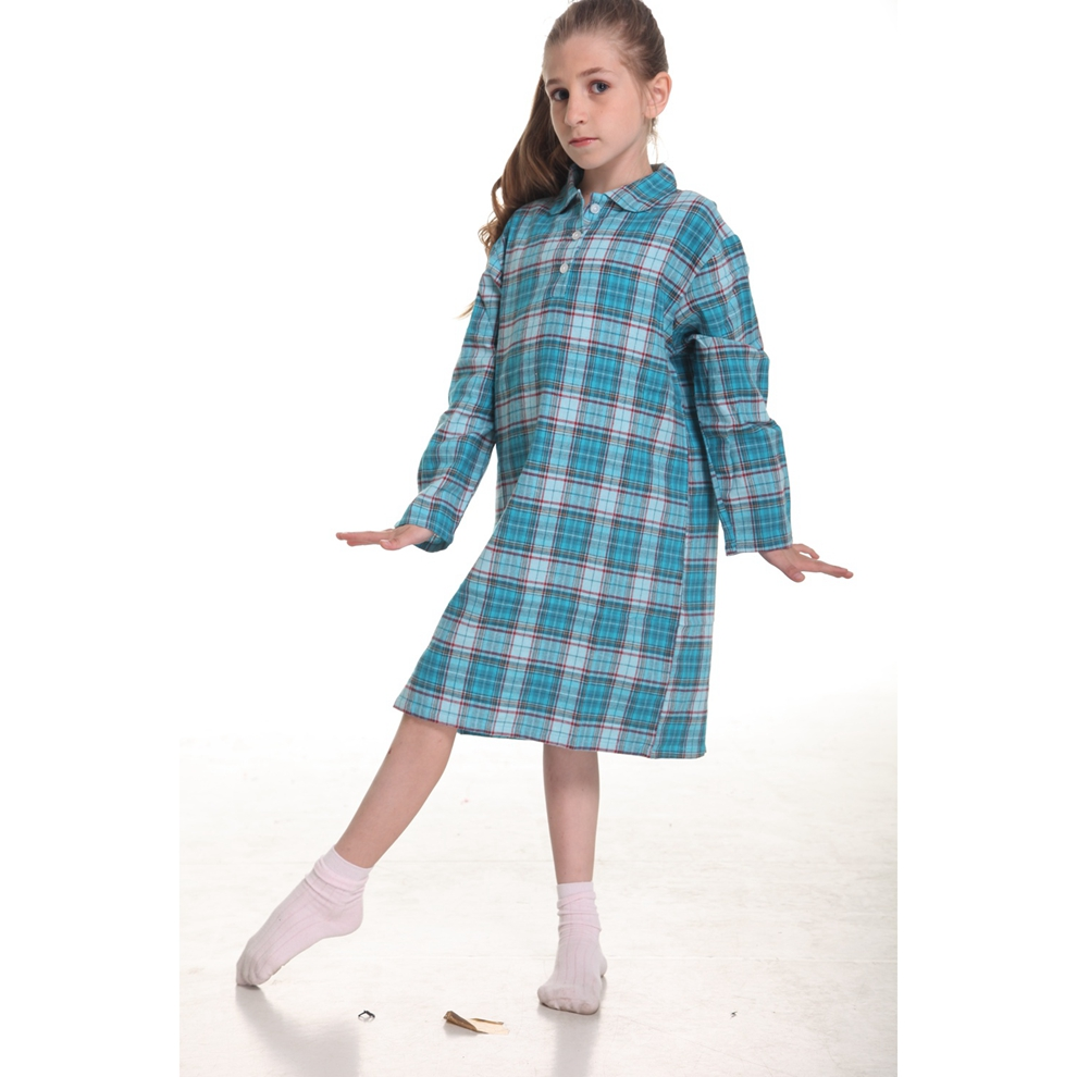 Plaid 100 Cotton Girls Nightgowns