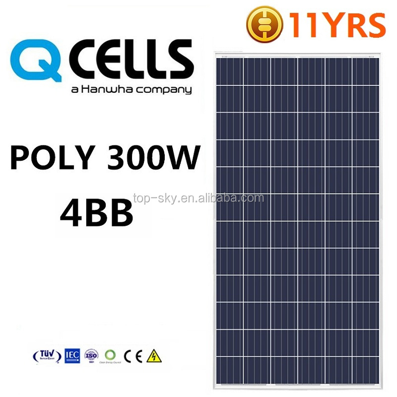 Hanwha Q CELLS 255W 260W 270W solar panel China A grade solar cell high efficiency low price solar module PV solar power panel