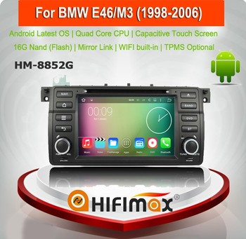 HIFIMAX 7'' Android 7.1 Car Navigation For BMW 3 Series E46(1998-2002-2006) / M3 Radio DVD Player Bluetooth DVR Carplay Optional