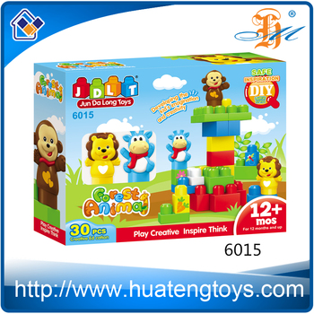 New Educational DIY animal build construct blocks toys for child