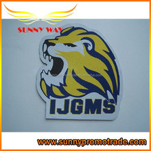 Custom Stick On Embroidery lion label, Clothing label