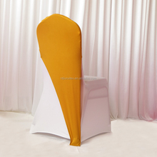 gold spandex chair cover cap