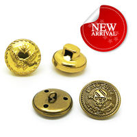 Gold metal big sewing button,fancy art blazer button
