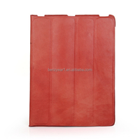 2015 hot selling Design Genuine leather tablet case Fit for iPad Air