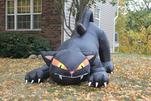 inflatable black cat,halloween cat decoration
