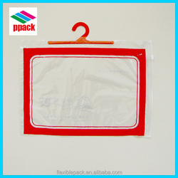 PVC plastic packaging bag, hook hanger bag, underwear shirt bag