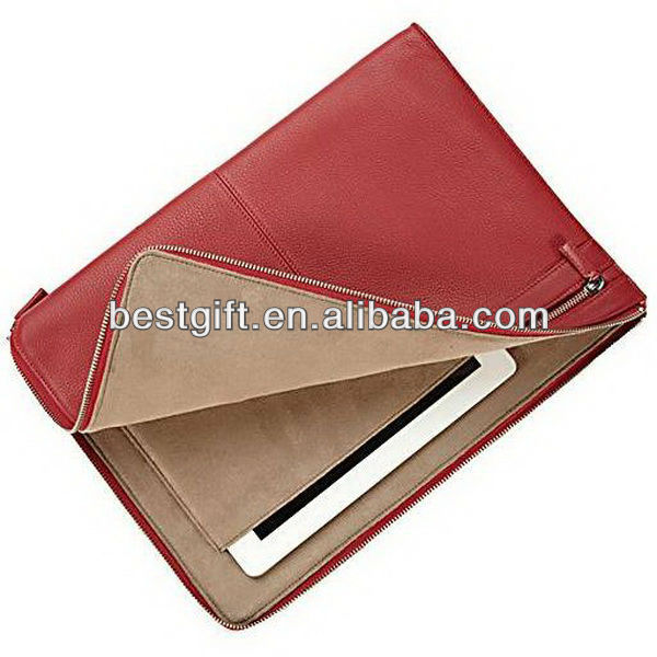 Cow leather laptop sleeve bag for samsung