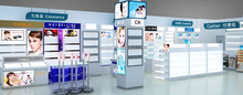 Hot sale cosmetic display racks stand series for exhibition