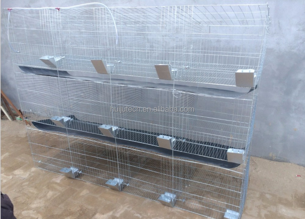 industrial rabbit cages used meat rabbit cages Galvaniazed wire rabbit cage in kenya farm HJ-RC24