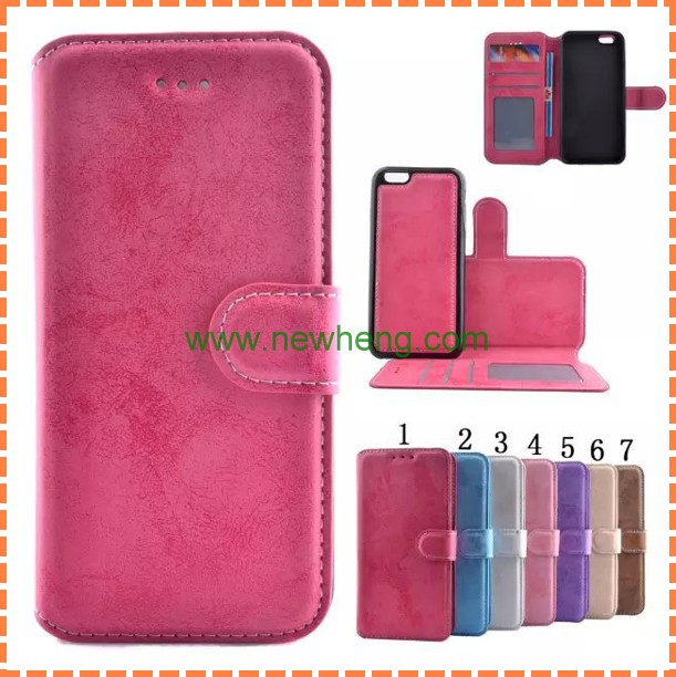 luxury two mobile phones leather case for iphone 6s