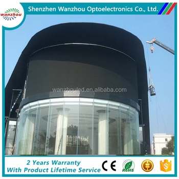 Waterproof P8 Outdoor Advertising Curve Full LED Display Screen Prices
