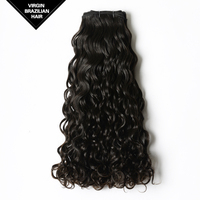 2015 Natural Color Remy Wholesale Brazilian Virgin Curly Hair Extension For Black Women