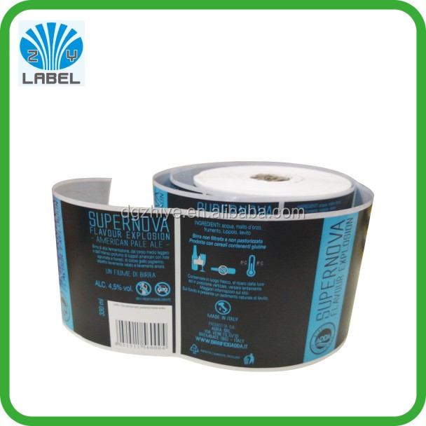 [Hot Sale]customized plastic water bottle label printed pvc shrink sleeve for water labels