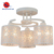 Top selling iron art white ceiling light for living room