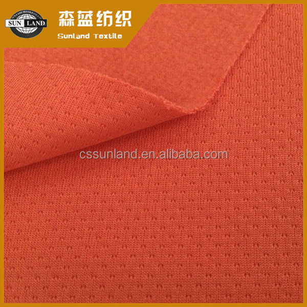 super soft 100 polyester knit mesh fabric for sportswear