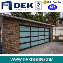Modern automatic aluminum frame frosted polycarbonate glass garage door prices