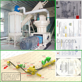 CSPM 2016 new hot sale Ring Die Biomass Wood Pellet Processing Machine with auto lubrication system